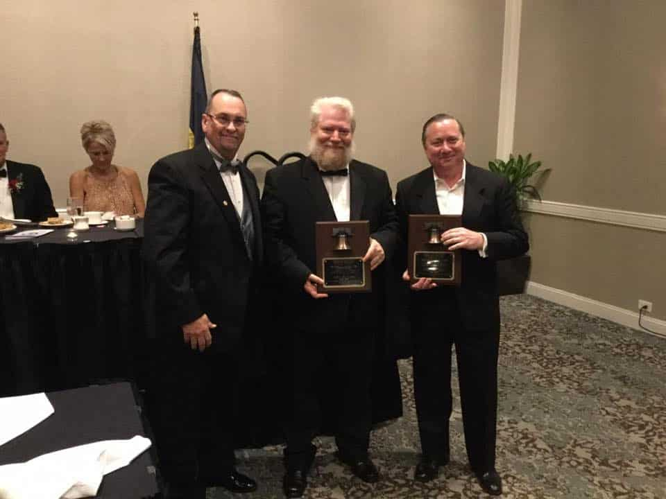 Connelly Pioneer Award presented by Ed Fitzgerald to John Treumpy and Vernon Kelley