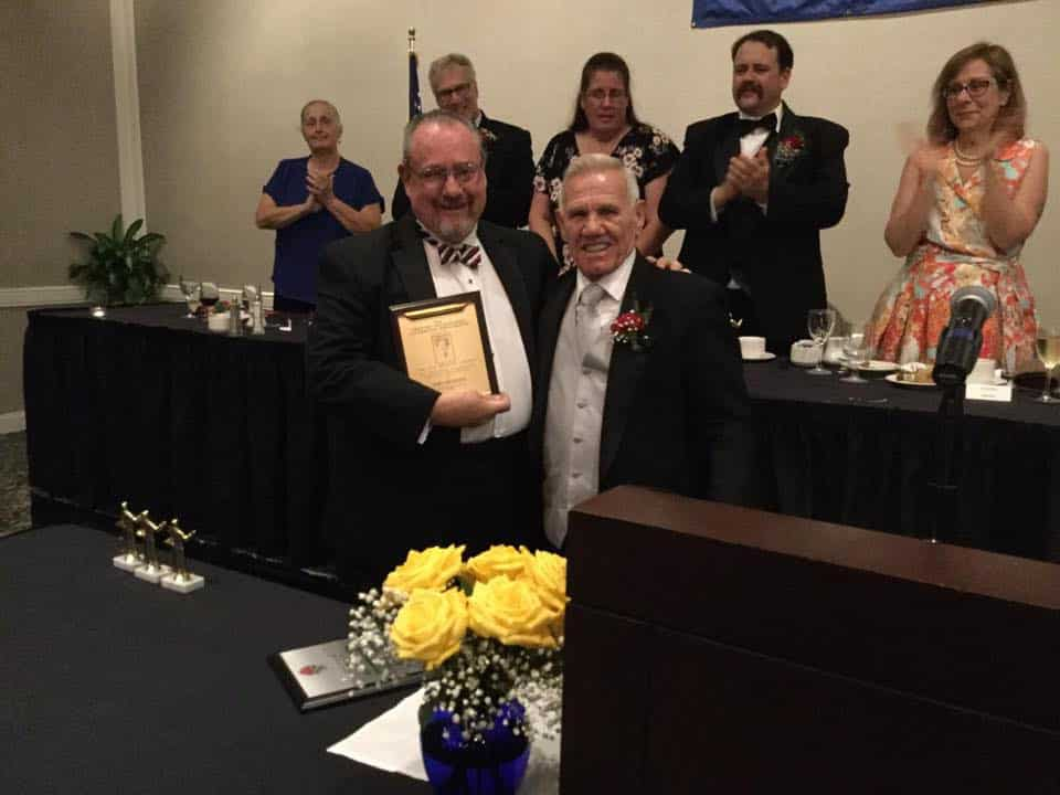 Rognon Award presented by Marty Arnold to Tom Demont